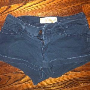 Never worn hollister navy blue shorts!